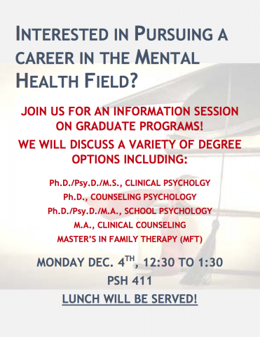 Mental Health Careers Info Session