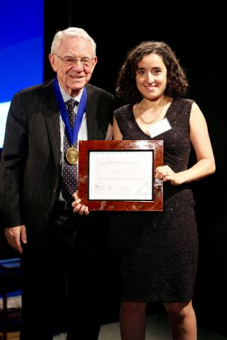 Ilana Witten with Dr. Herbert Pardes, President of the Brain & Behavior Research Foundation's Scientific Council