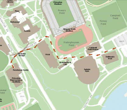 Campus map directions